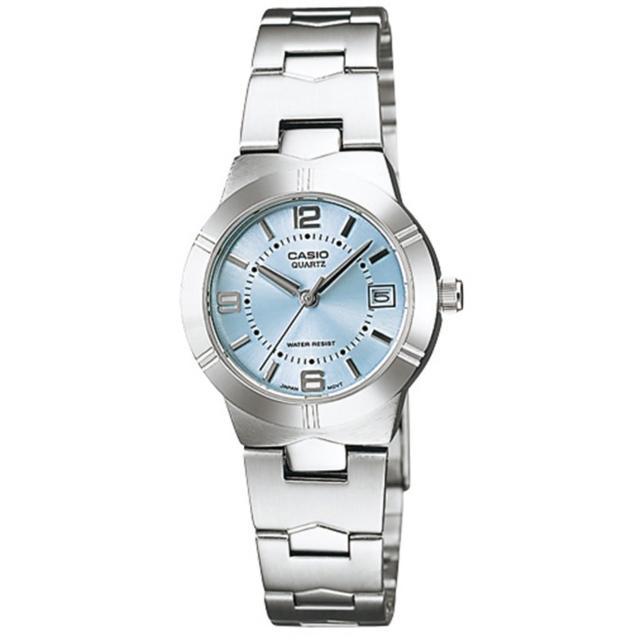 【CASIO 卡西歐】高雅氣質魅力指針錶(淺藍-LTP-1241D-2ADF)