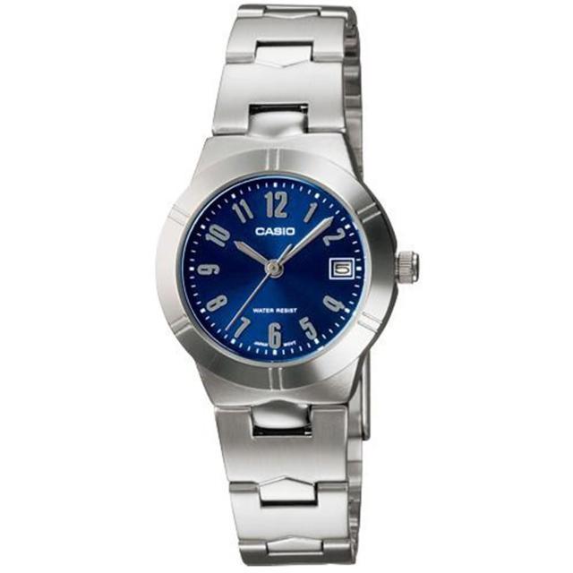 【CASIO 卡西歐】高雅氣質魅力指針錶(藍-LTP-1241D-2A2DF)