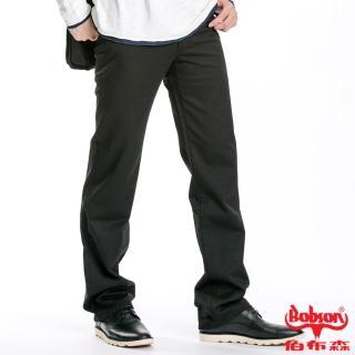 【BOBSON】男款混紡毛料直筒褲(黑88)