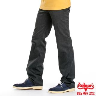 【BOBSON】男款混紡毛料直筒褲(深灰87)