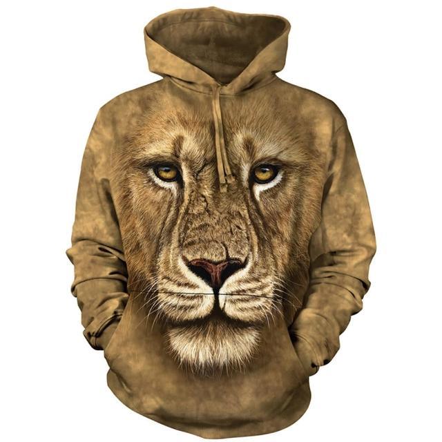 【摩達客】美國進口The Mountain 獅勇士 長袖連帽T恤(預購)