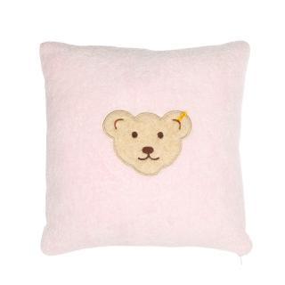 【STEIFF德國金耳釦泰迪熊】嬰幼兒 枕頭 靠枕 粉紅色(枕頭/被類)