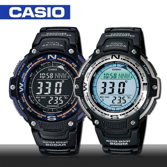 【CASIO 卡西歐 SPORTS 系列】數位羅盤 溫度 計時 運動男錶(SGW-100)