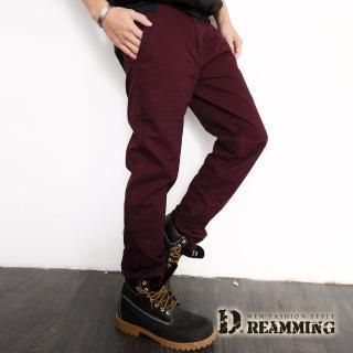 【Dreamming】條紋剪接口袋棉質休閒長褲(共二色)