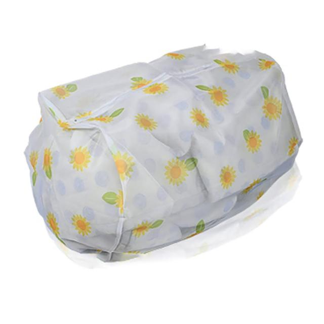 【UdiLife】超大物用花漾洗衣袋圓柱型-43X56cm-4入