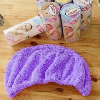 【米夢家居】台灣製造水乾乾SUMEASY開纖吸水紗-快乾護髮浴帽-紫(二入)