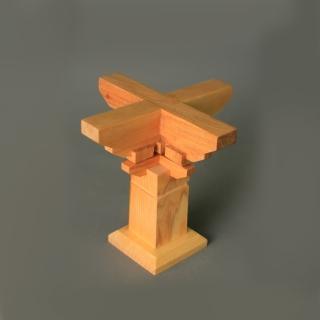 【荒木雕塑藝品】斗栱寶台