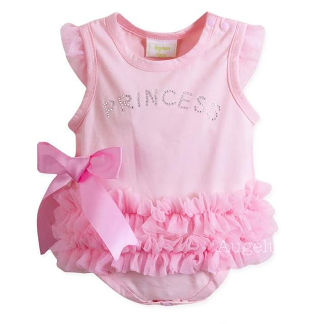 【BABY童衣】女寶寶包屁衣 紗紗哈衣嬰兒連身衣32144