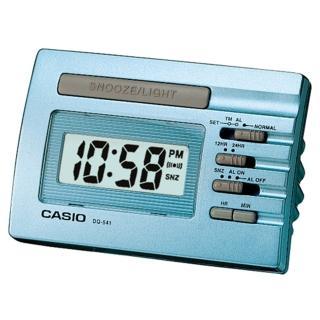 【CASIO 卡西歐】數位電子鬧鐘(藍-DQ-541D-2RDF)
