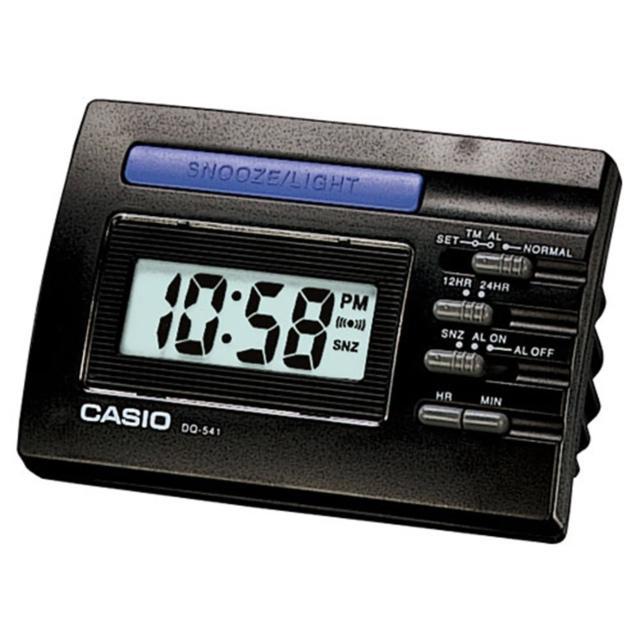 【CASIO 卡西歐】數位電子鬧鐘(黑-DQ-541-1R)