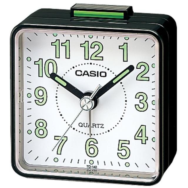 【CASIO 卡西歐】復古造型輕巧指針鬧鐘(黑x白-TQ-140-1BDF)