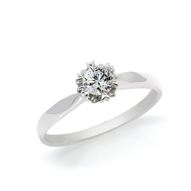【約克鑽石】幸福時刻圓形20分 G/VS2 H&A(純銀鑽戒)