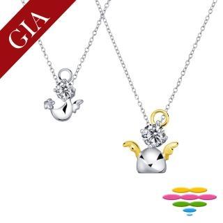 【彩糖鑽工坊】心有獨鍾系列 鑽石項鍊(K白款 CL-PD54)