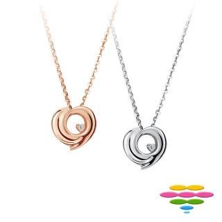 【彩糖鑽工坊】心有獨鍾系列 鑽石項鍊(玫瑰金款 CL-PD56)