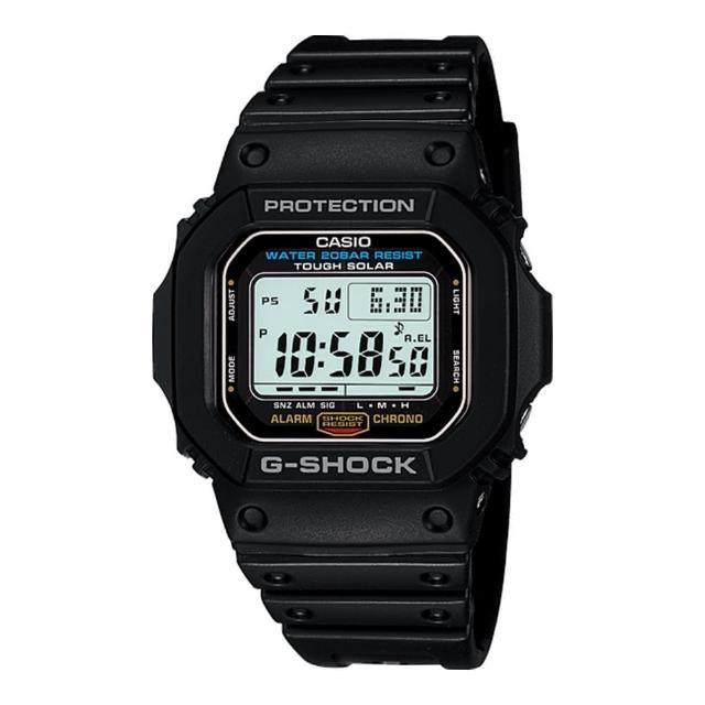 【CASIO 卡西歐 G-SHOCK 系列】太陽能電力 耐衝擊構造 運動錶(G-5600E)