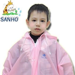 【Sanho】兒童造型風雨衣(粉紅M_130-139cm)