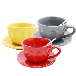 【PUSH!餐具】1380度高溫燒製環保耐磨瓷咖啡杯設計師設計款(一入)