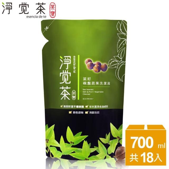 【茶寶 淨覺茶】茶籽碗盤蔬果洗潔液補充包(整箱18入)