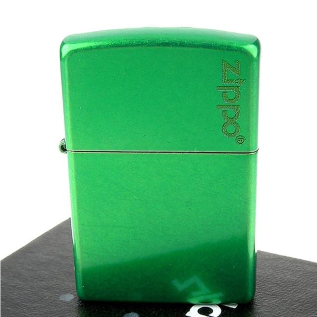 【ZIPPO】美系-LOGO字樣打火機-Meadow-牧草綠色烤漆