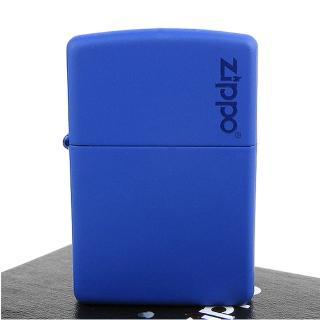 【ZIPPO】美系-LOGO字樣打火機-Royal Blue Matte寶藍烤漆