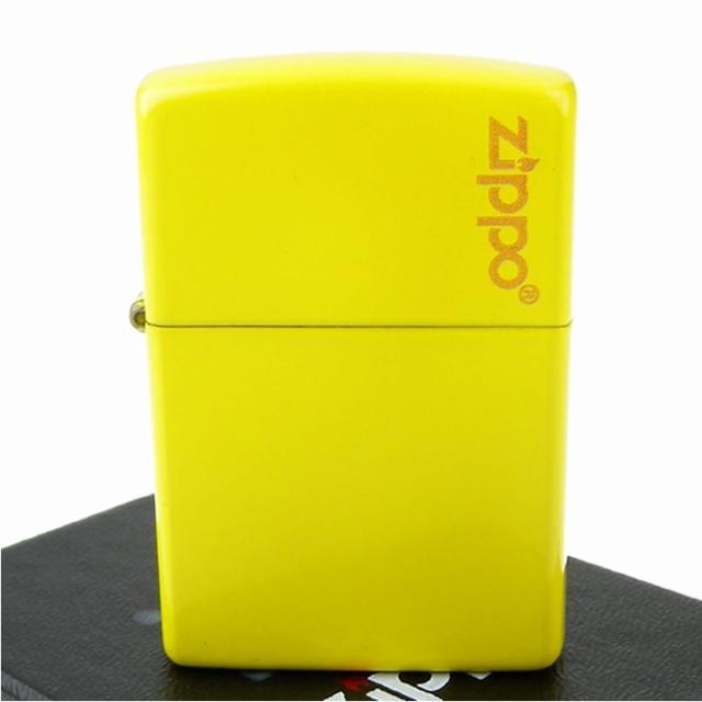 【ZIPPO】美系-LOGO字樣打火機-Lemon檸檬黃烤漆