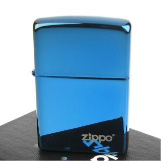 【ZIPPO】美系-LOGO字樣打火機-超質感Sapphire藍寶色鏡面