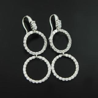 【Celosa名品-】圓愛晶鑽耳環