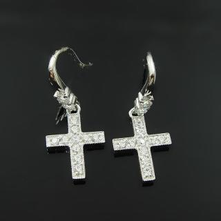 【Celosa名品-】信仰晶鑽耳環