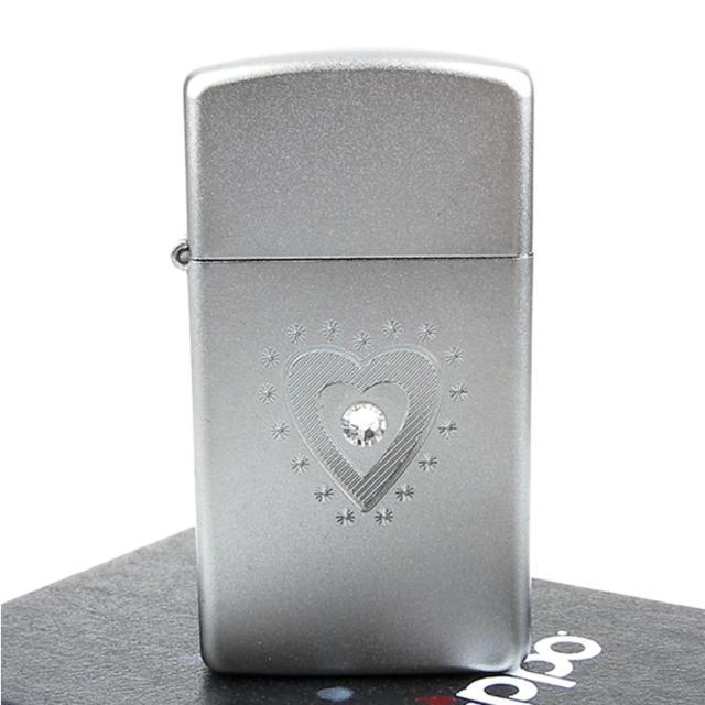 【ZIPPO】美系-TR Heart Bling-施華洛世奇水晶貼飾打火機