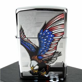 【ZIPPO】美系-Eagle Flag-國旗鷹圖案設計打火機