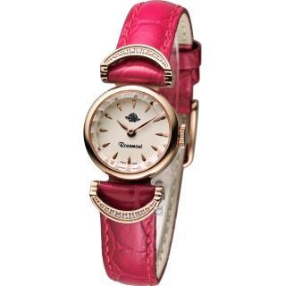 Rosemont 玫瑰錶 茶香玫瑰系列VI 典雅時尚腕錶 - 米白x紅色錶帶/20mm (TRS-032-05-RD)