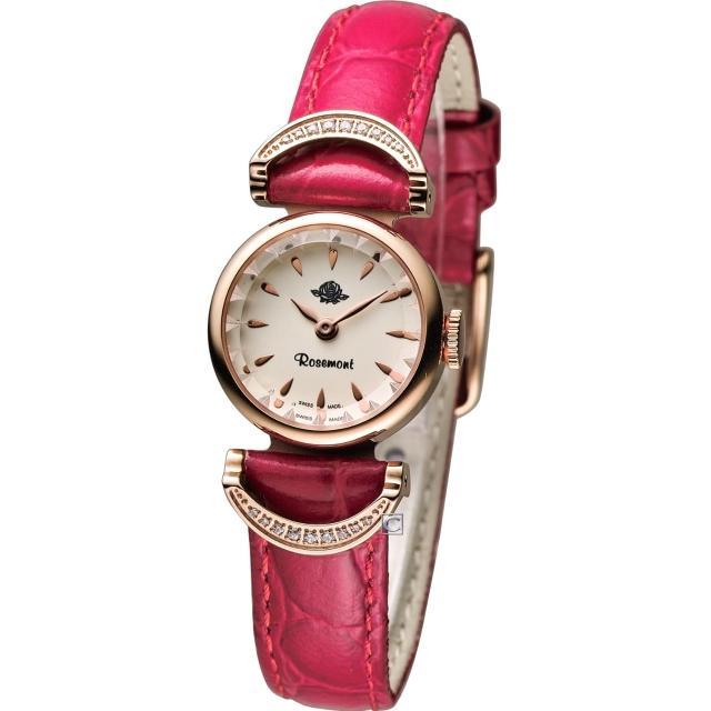 【Rosemont 玫瑰錶】茶香玫瑰系列VI 典雅時尚腕錶(TRS-032-05-RD)