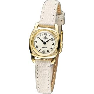 Rosemont 玫瑰錶 茶香迷你玫瑰時尚腕錶 - 米白x金色/20mm (TRS029-01-WH)
