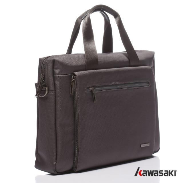 【KAWASAKI】精緻超輕平板公事包(灰色)