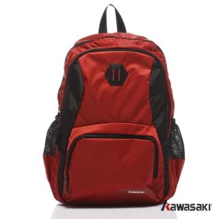 【KAWASAKI】超輕多 平板電腦後背包 紅色