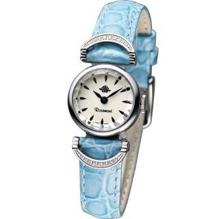 Rosemont 玫瑰錶 茶香玫瑰系列VI 典雅時尚腕錶 - 白x藍色錶帶/20mm (TRS-032-03-BU)
