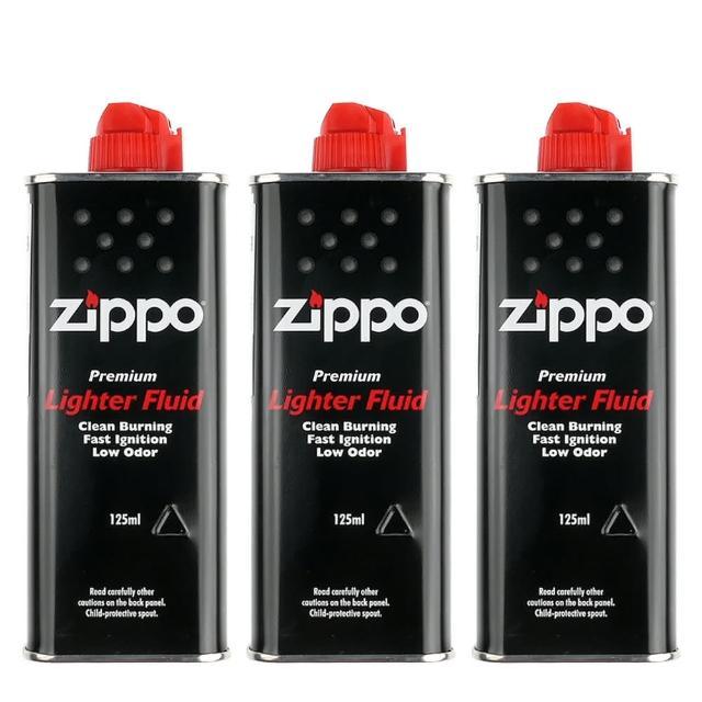 【ZIPPO】原廠專用打火機補充油-3罐優惠組合