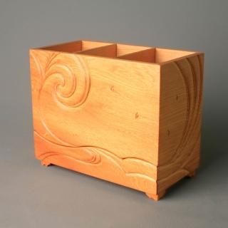 【MU LIFE 荒木雕塑藝品】海天雲舞收納盒(台灣檜木限量發行100個)