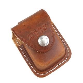 【ZIPPO】金屬扣式-打火機皮套(棕色款)