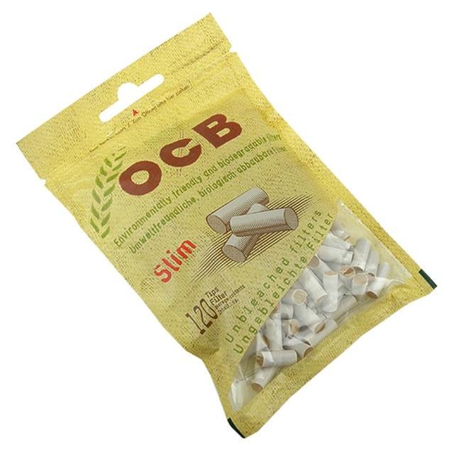 【OCB】法國進口捲煙用6mm環保濾嘴-120粒裝*2包