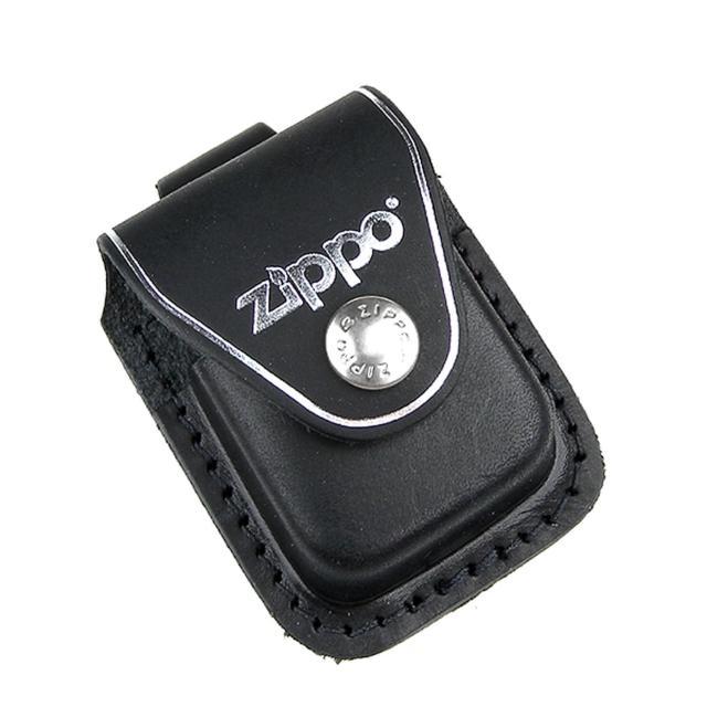 【ZIPPO】金屬扣式-打火機皮套(黑色款)