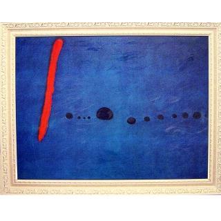 【開運陶源】Miro米羅..大幅93x73cm(藍色二號/招財1兆)