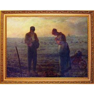 【開運陶源】The Angelus 大幅93x78cm-驚豔米勒 田園之美(晚禱)