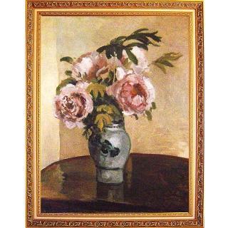 【開運陶源】Camille Pissarro卡密爾-畢沙羅.大幅73x93cm(粉牡丹)