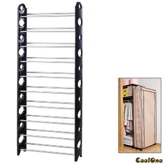 【Coolone】獨家加贈防塵套- 立體十層可調式收納鞋櫃(黑色)
