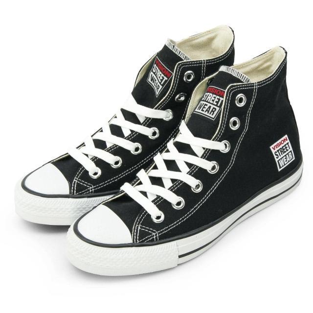【VISION STREET WEAR】女 經典帆布鞋(黑 V22001)