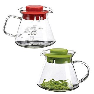 【SYG】精緻耐熱花茶咖啡壺BHG360S(紅綠蓋二入任組)