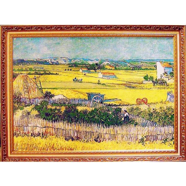 【開運陶源】梵谷名畫 The Harvest Wheatfields 大幅(麥田收割 豐收)