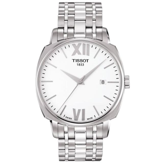 【TISSOT】T-Lord 都會紳士機械腕錶-銀/40mm(T0595071101800)