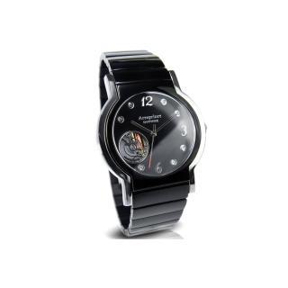 【Arseprince】城市旅人鏤空機芯中性錶(夜空黑x銀)